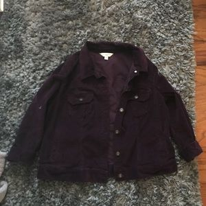 Purple corduroy jacket!!